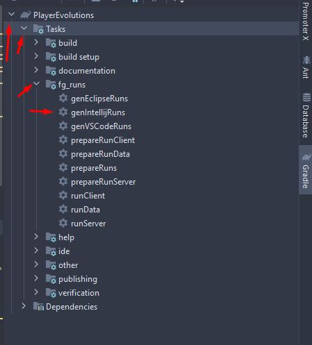 Gradle Project -> Tasks -> fg_runs -> genIntelliJRuns